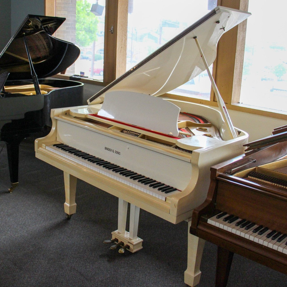 Binder and Sons Binder and Sons G-80A 51 Ivory Baby Grand Piano