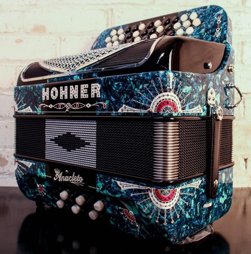 Hohner USED Hohner Anacleto Rey Del Norte TT G/F Green Stone Black