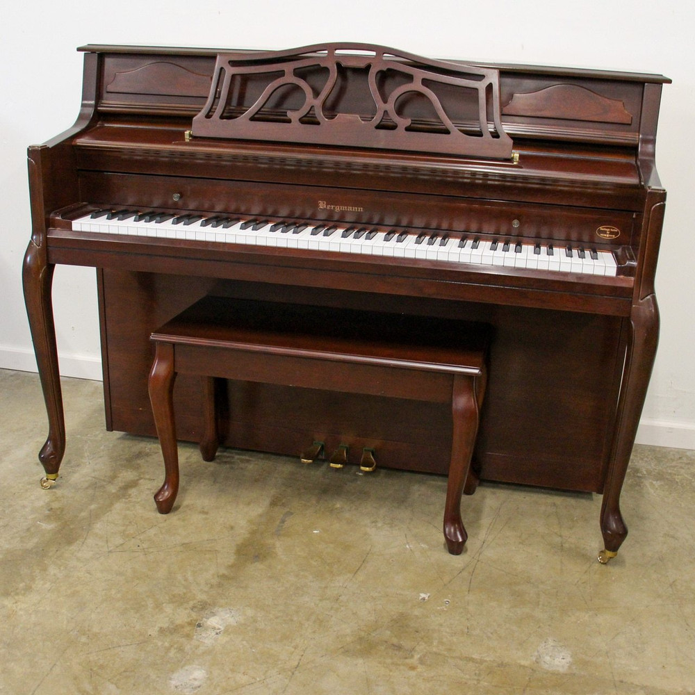 Bergmann Bergmann by Young Chang Queen Anne Dark Cherry Upright Piano