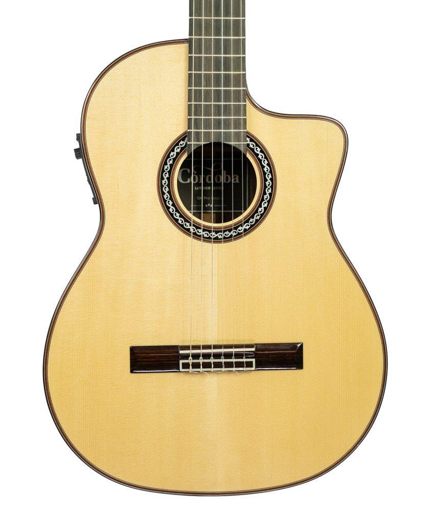 Cordoba Pre-Owned Cordoba GK Pro Negra Acoustic-Electric Guitar w/ Case