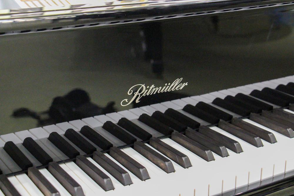 Ritmuller Ritmuller Performance Series R8 Grand Piano - Silver Polish - Polished Ebony