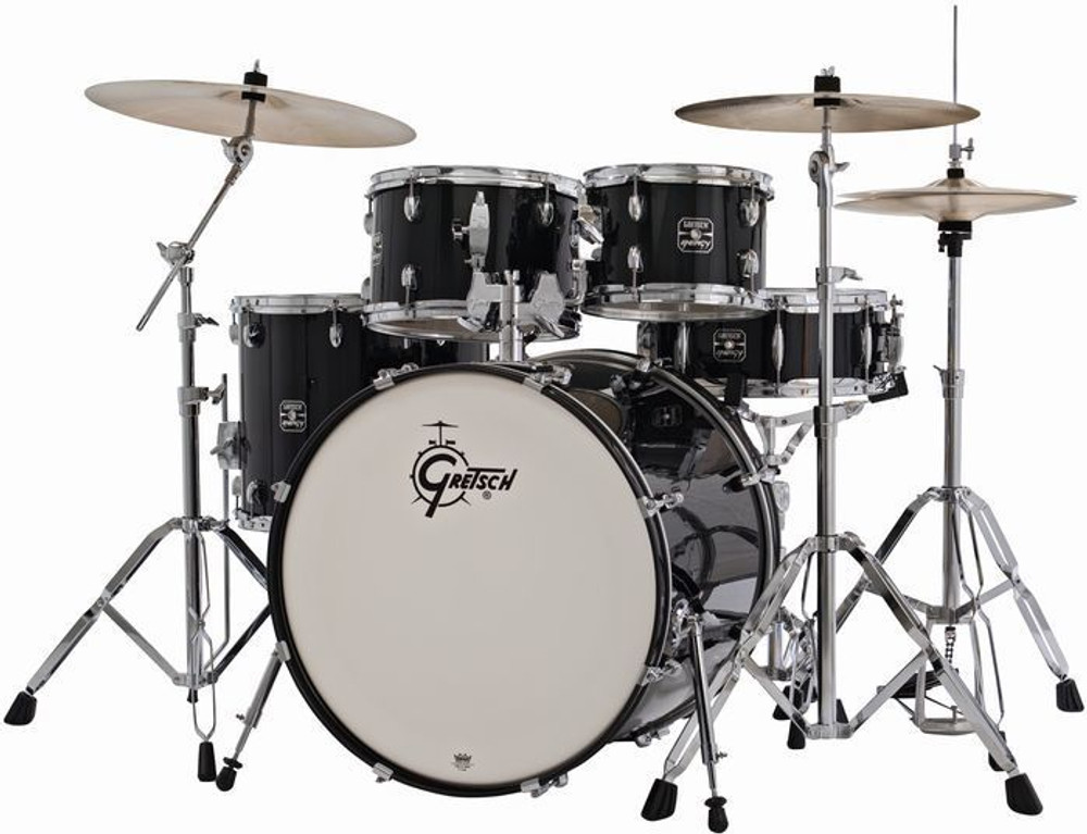 Gretsch Gretsch Energy 5pc Kit w/ Hardware and Cymbals Black