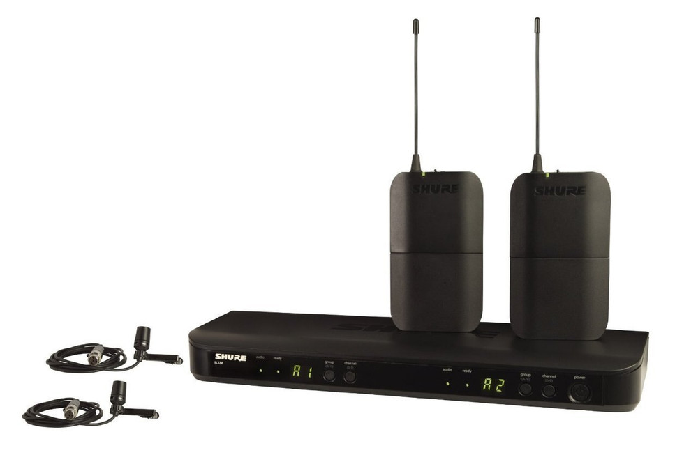 Shure Shure BLX188/CVL Dual Channel Lavalier Wireless System with 2 CVL Lavalier Microphones