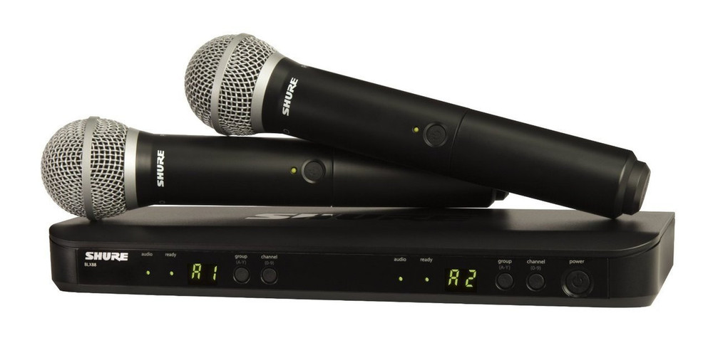 Shure Shure BLX288/PG58 Wireless Vocal Combo with PG58 Handheld Microphones
