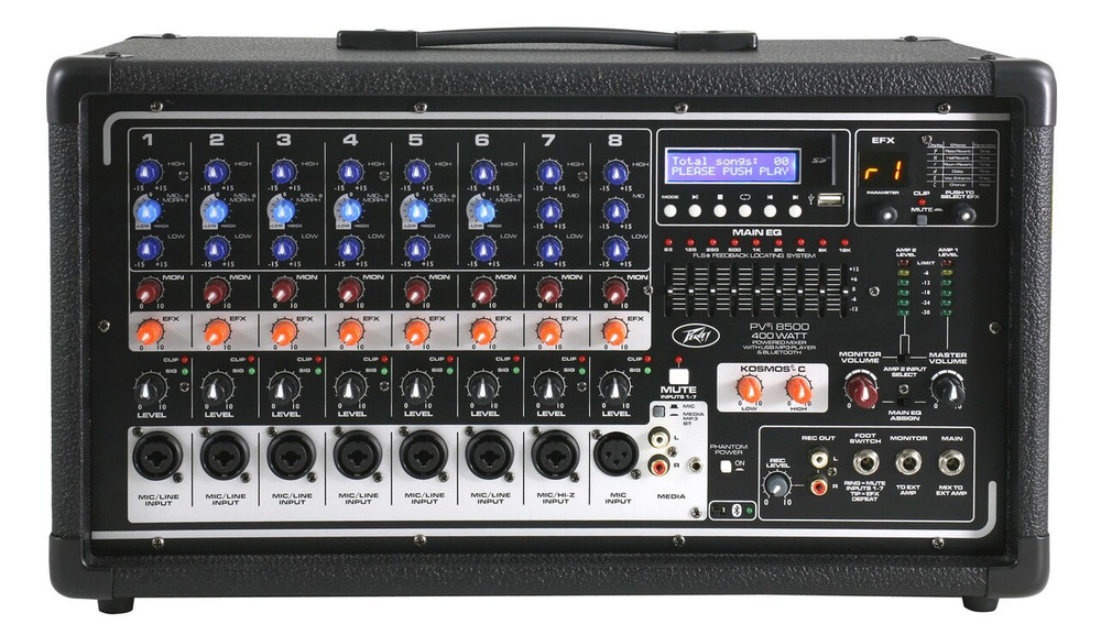 Peavey Peavey PVI8500 8-Channel Powered Mixer w/ Bluetooth and FX