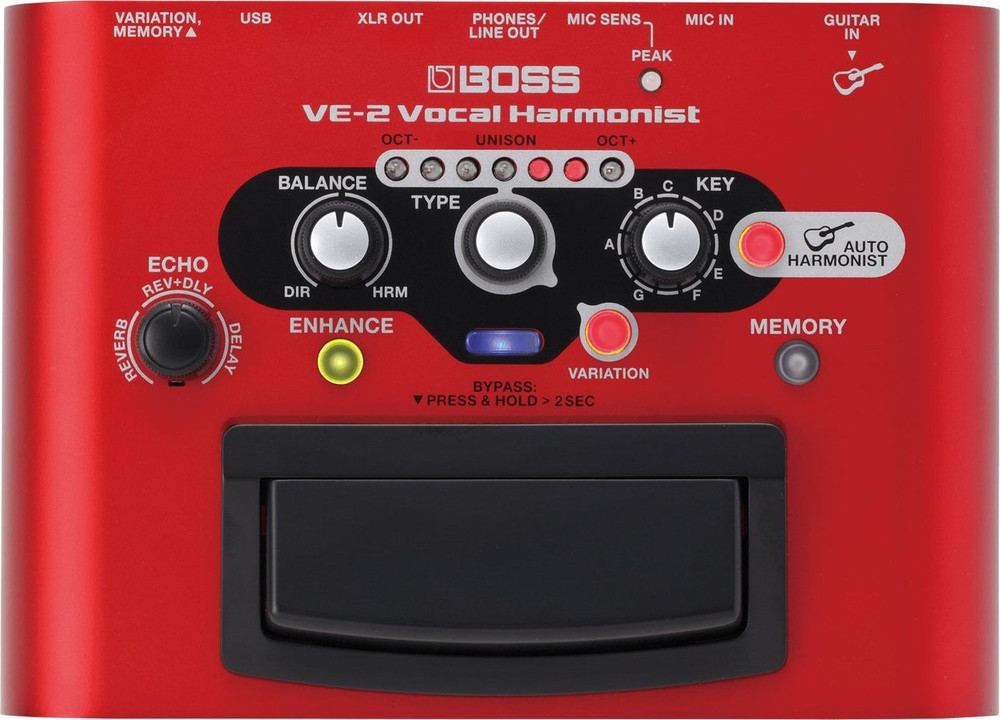 Boss Boss VE-2 Battery-powered Portable Vocal Processor