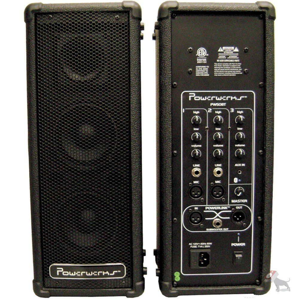 Powerwerks Powerwerks 50-Watt Self-Contained Personal PA System with Bluetooth
