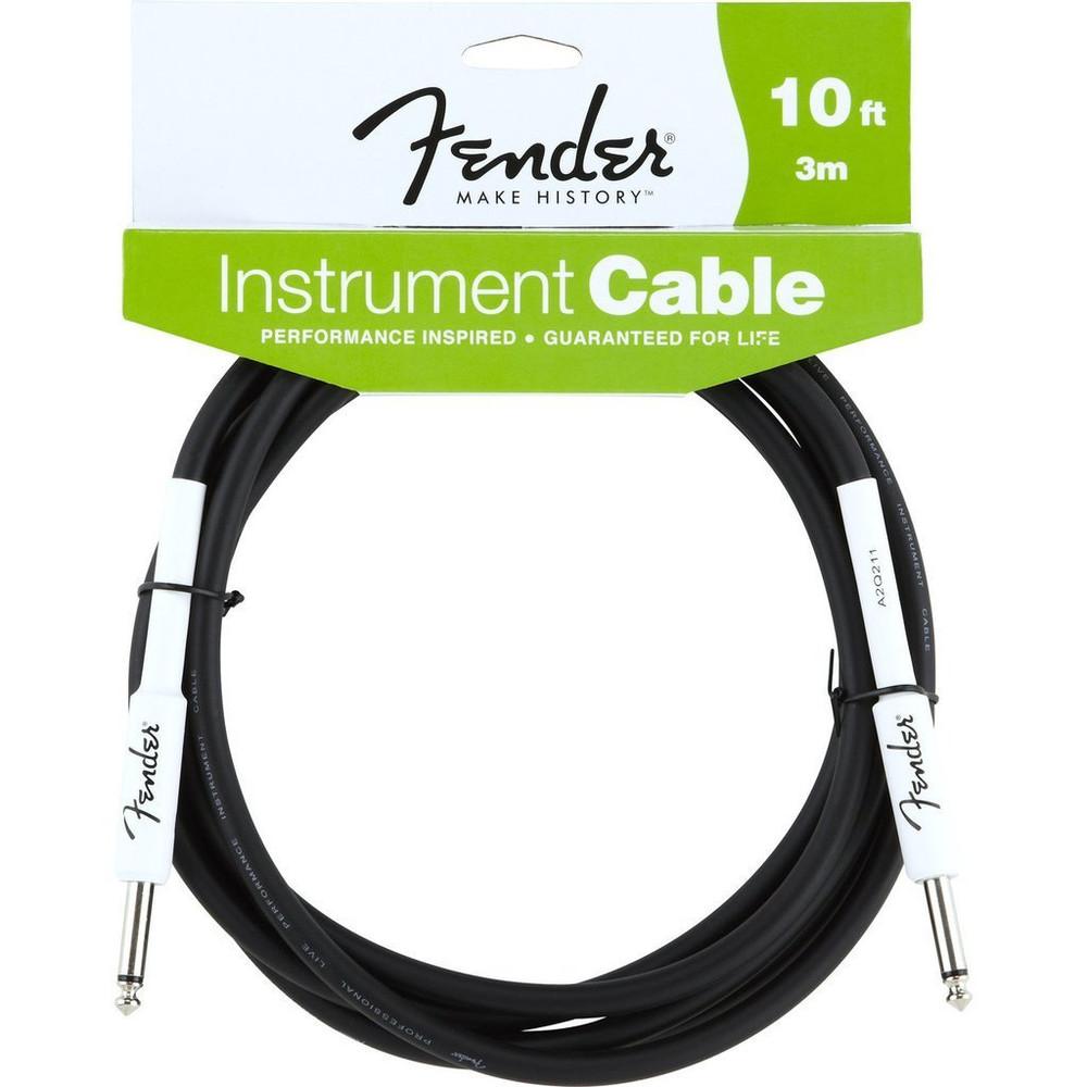 Fender Fender 10 Black Instrument Cable