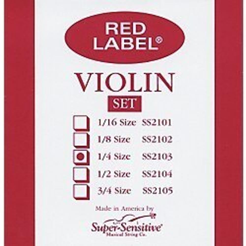 Super Sensitive Super Sensitive Red Label Violin String Set 1/4