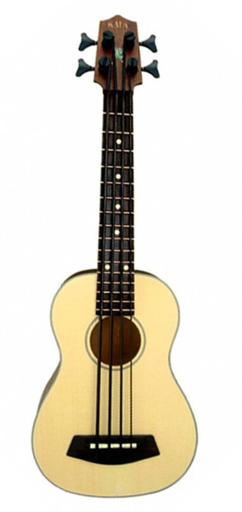 Kala Kala Acoustic-Electric U-Bass Satin Spalted Maple Solid Spruce Top