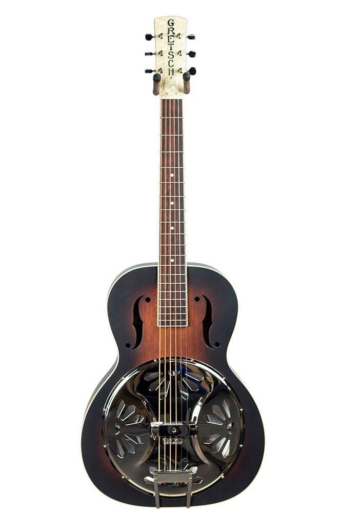 Gretsch Gretsch G9220 Bobtail Round-Neck AE, Mahogany Body Spider Cone Resonator Guitar with Fishman Nashville Resonator Pickup - 2-Color Sunburst