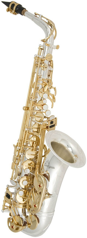 Antigua Winds Antigua Winds AS4240SG Power Bell Alto Saxophone Silver Plating