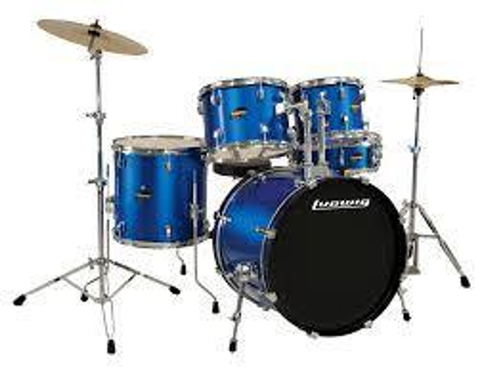 Ludwig Ludwig LC17519 Ludwig 5 Piece Accent Drive Drum Set Blue Foil