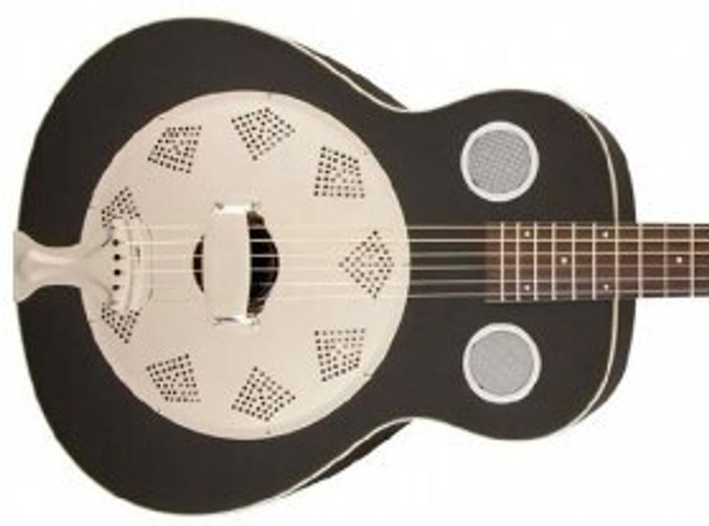 Fender Acoustic Guitars Fender Black Top Hat Resonator