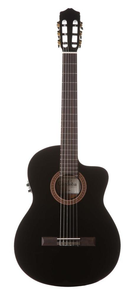 Cordoba Cordoba C5-CE Black Acoustic/Electric Thinbody Cutaway Classical