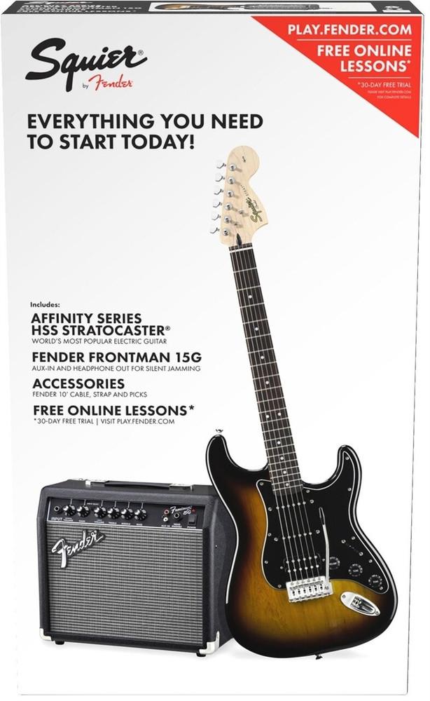 Fender Squier Affinity Strat Pack HSS Brown Sunburst