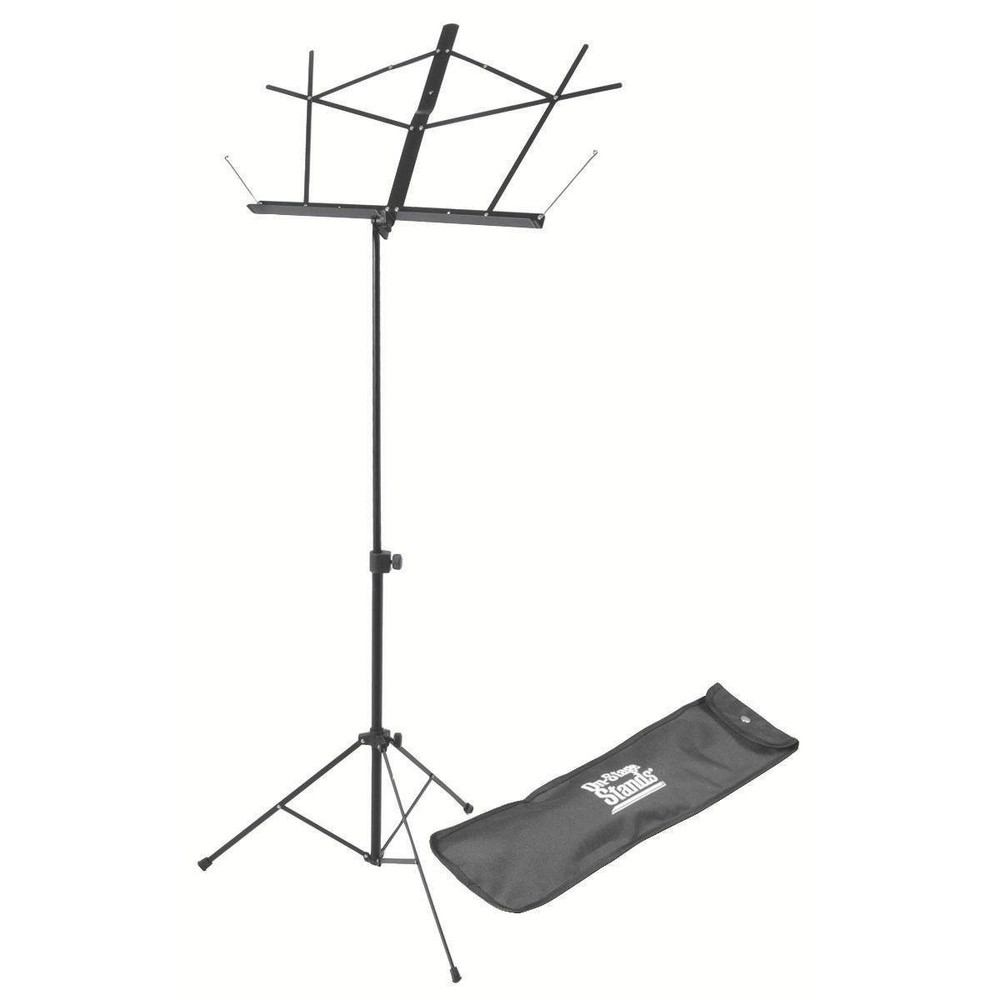 On-Stage On-Stage SM7122BB Compact Sheet Music Stand with Bag, Black