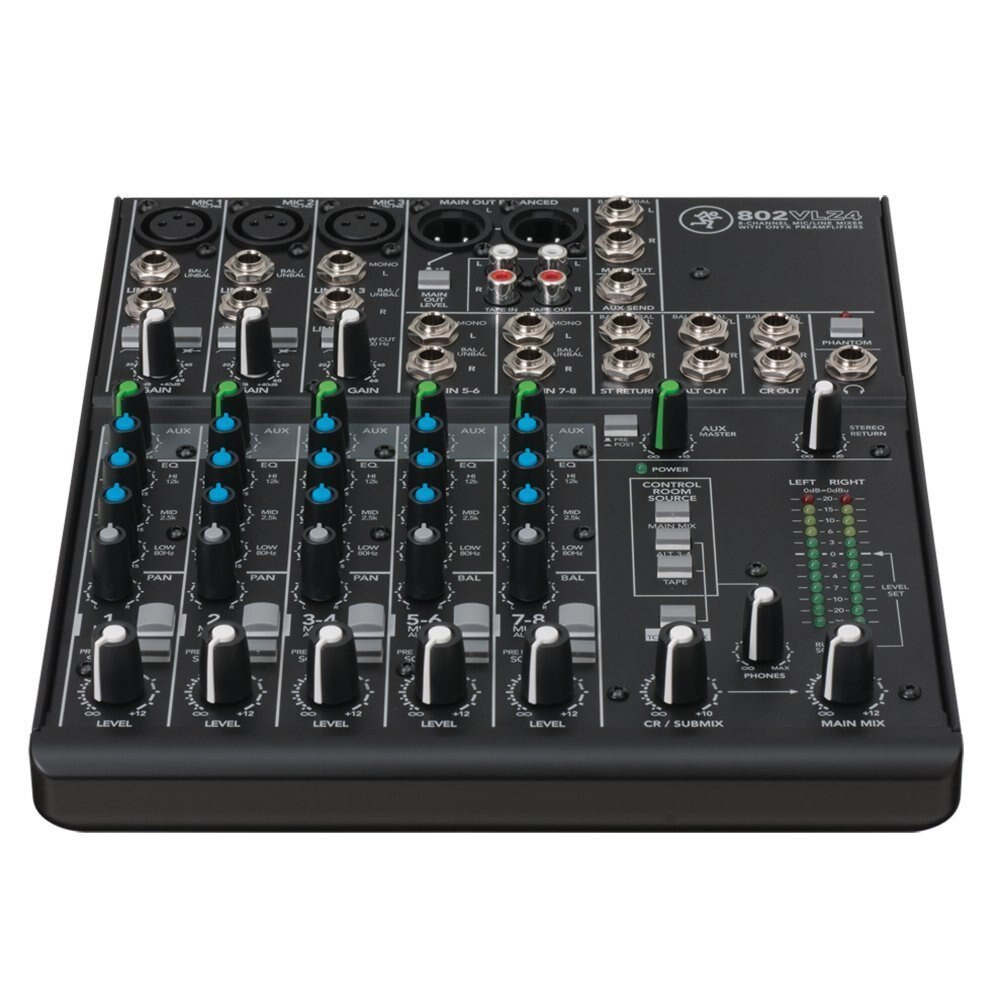 Mackie Mackie 802VLZ4 8-channel Ultra Compact Mixer with High Quality Onyx Preamps