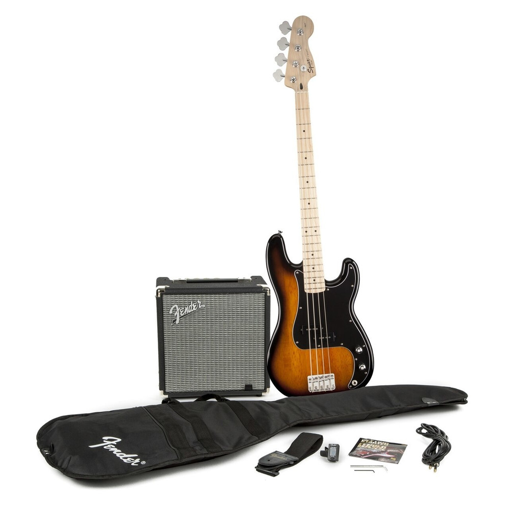 Fender Affinity P Bass Brown Sunburst Pack w/ Rumble 15 Amp