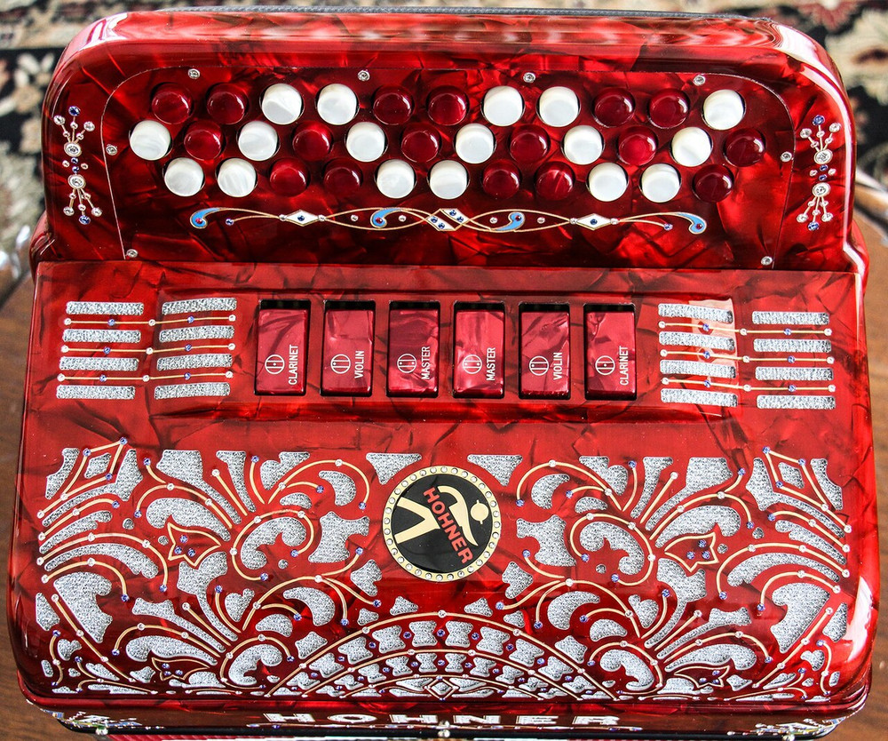 Hohner Hohner Anacleto Rey Del Norte Pearl Red