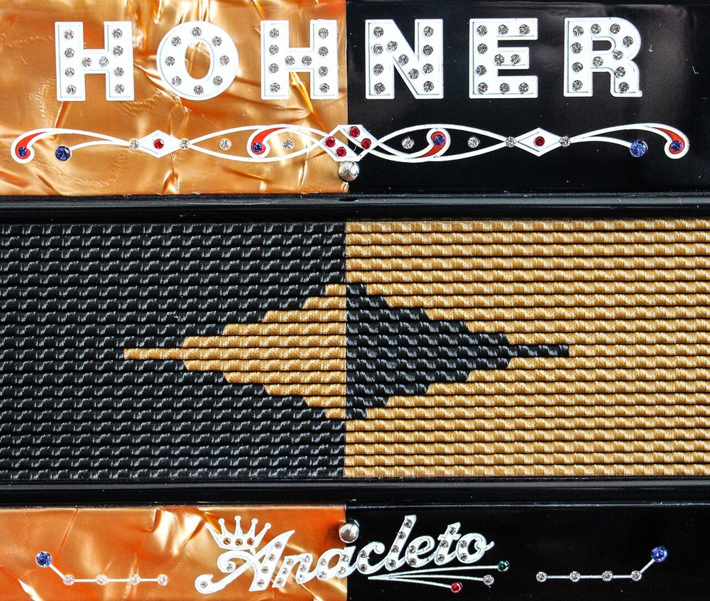 Hohner Hohner Anacleto Rey Del Norte Orange Gold and Black Accordion