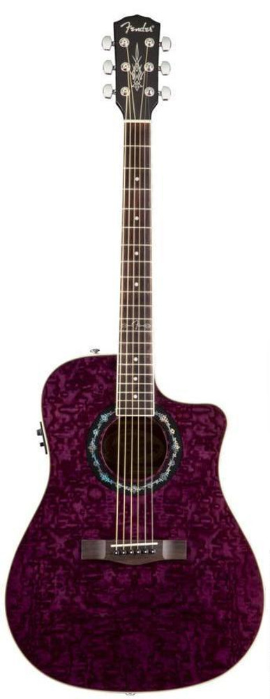 Fender Acoustic Guitars Fender T-Bucket 300-CE Ash Transparent Violet