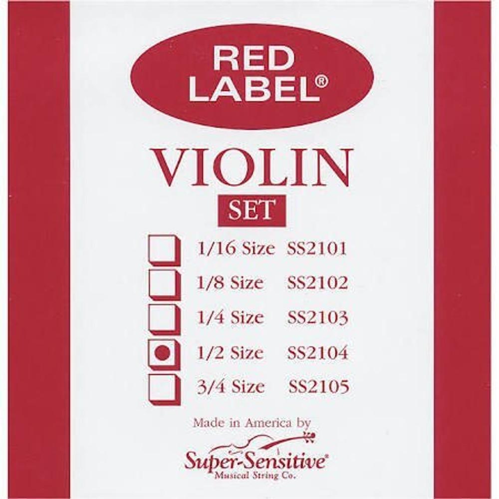 Super Sensitive Super Sensitive Red Label 1/2 Violin String Set