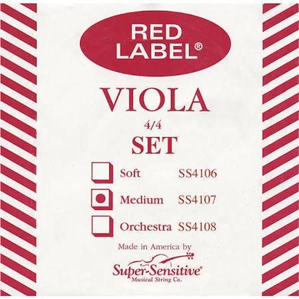 Super Sensitive Super Sensitive Red Label 15-16 Viola Strings Set Medium Gauge