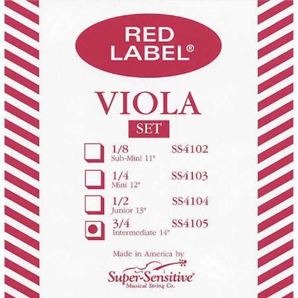 Super Sensitive Super Sensitive Red Label Viola String Set - 13/14