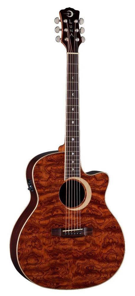 Luna Luna Woodland Bubinga Acoustic-Electric Grand Auditorium Guitar