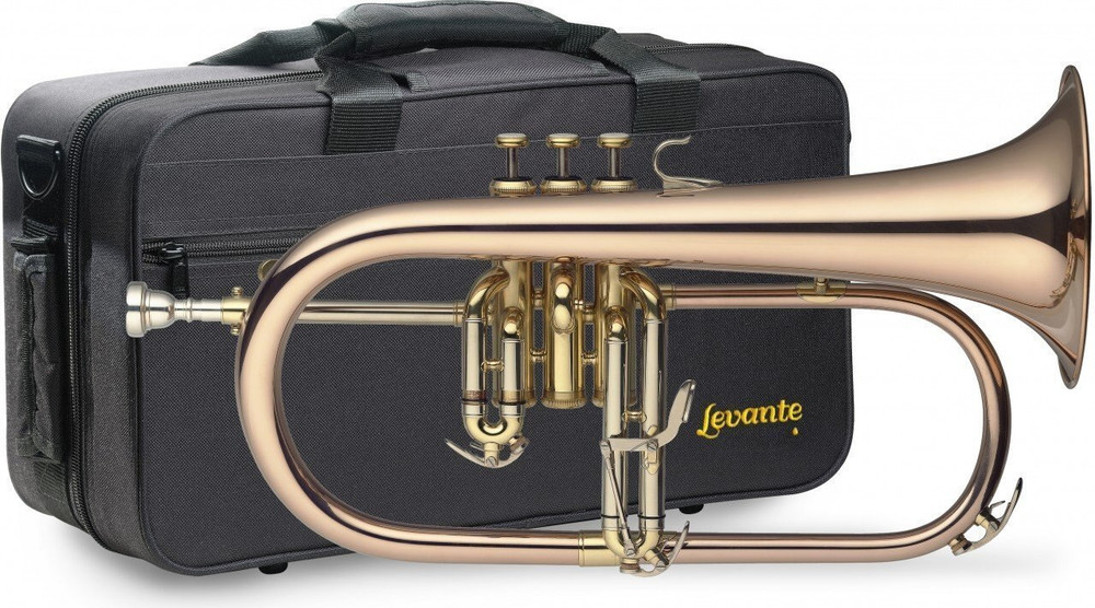Stagg Levante LV-FH6205 Bb Professional Flugelhorn with Soft Case