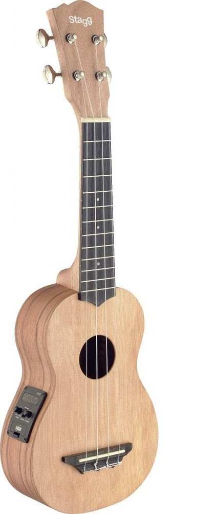 Stagg Pre- Owned Stagg USX-ROS-SE Soprano Acoustic-Electric Ukulele with Solid Dedar Top - Natural Matte