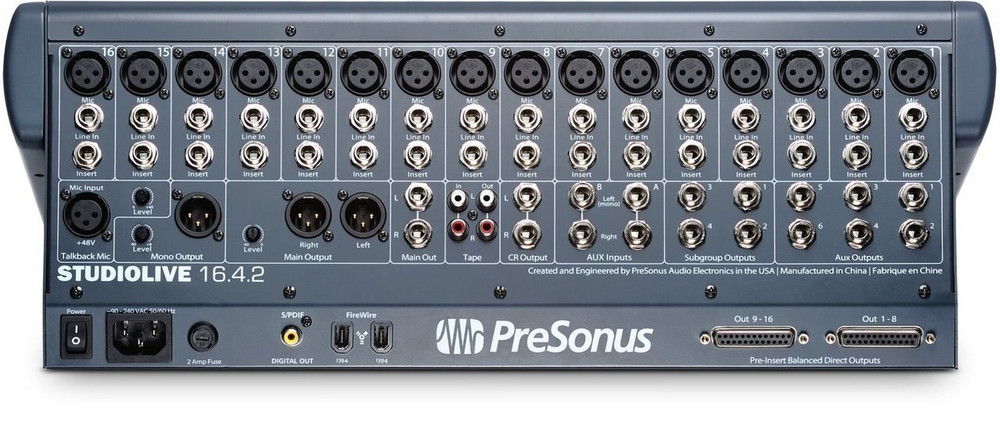 PreSonus PreSonus StudioLive 16.2.4 Digital Recorder Mixer Complete System