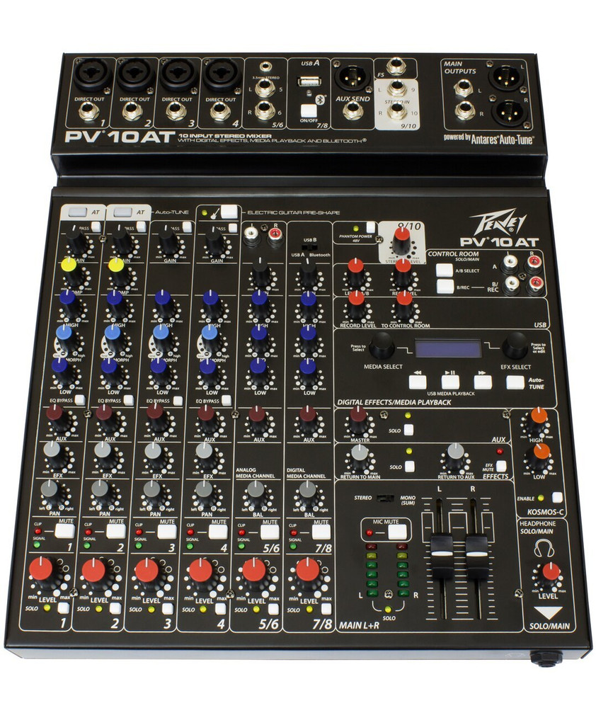 Peavey PV10AT 10-Channel Mixer w/ Bluetooth