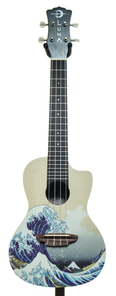Luna Luna Great Wave Ukulele Guitar