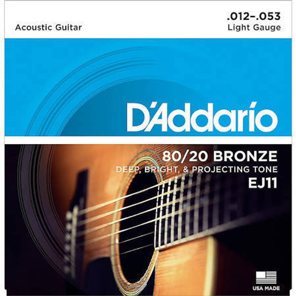 DAddario DAddario EJ11 80/20 Bronze Light Acoustic Guitar Strings 12-53