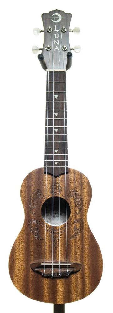 Luna Luna Honu Tribal Turtle Soprano Ukulele Guitar Mahogany