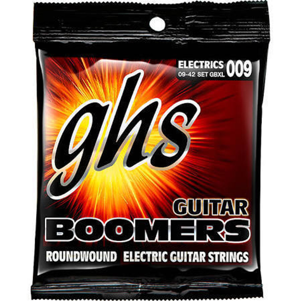 GHS Strings GHS Electric Guitar Strings Boomers Roundwound Ex Light 9-42