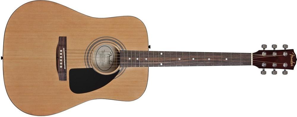Fender Acoustic Guitars Fender FA-100 Dreadnought Acoustic Guitar Pack with Bag