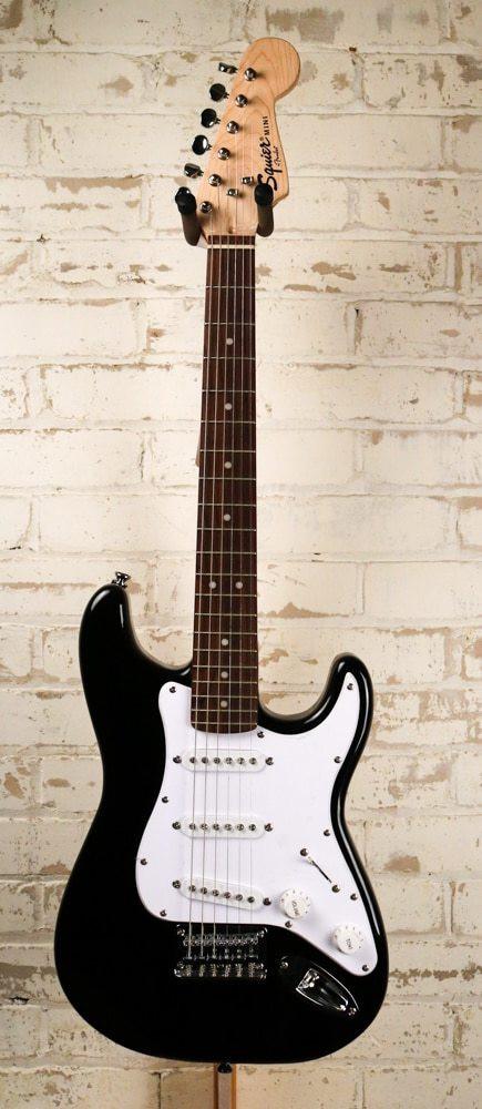 Squier Fender Squier Mini Strat Electric Guitar, Black Finish