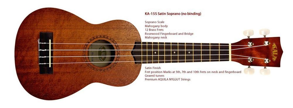Kala Kala KA15S Mahogany Soprano Ukulele