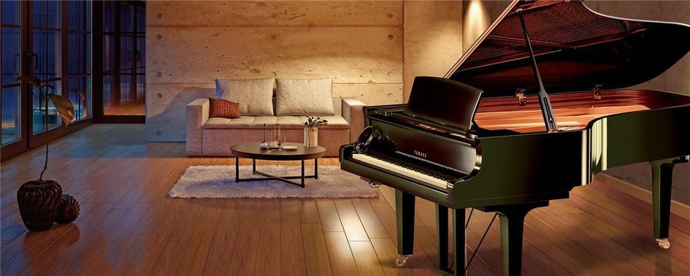 Yamaha Used Yamaha Conservatory Collection C7XSH Acoustic Grand Piano with Yamaha Silent Piano Technology - Polished Ebony