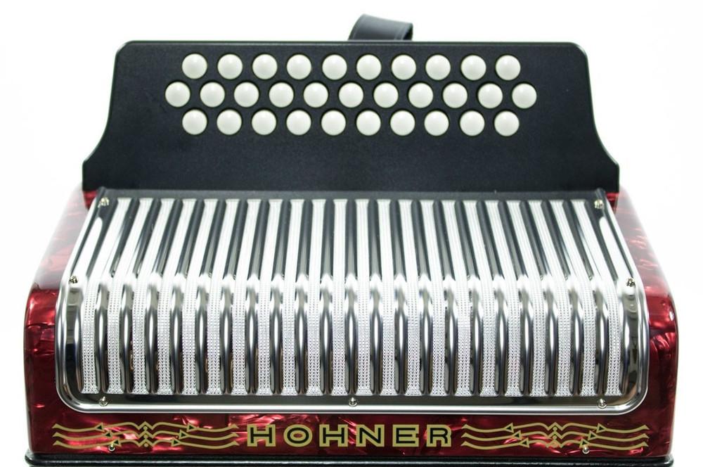 Hohner Hohner Corona II FBbEb Accordion Red