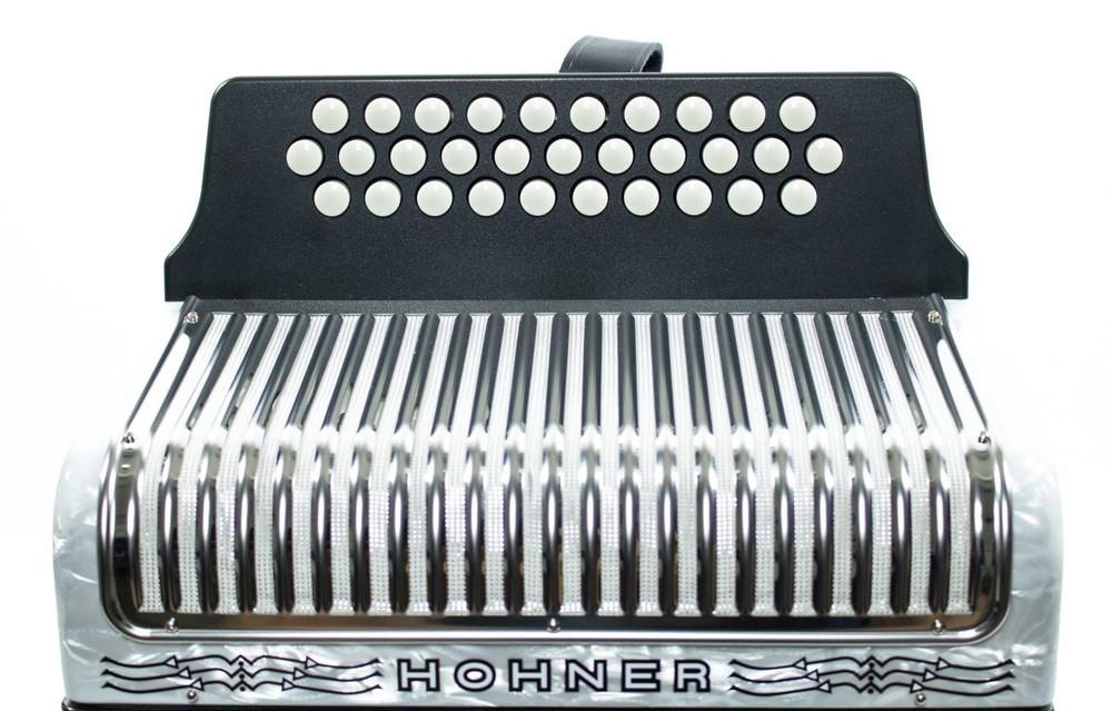 Hohner Hohner Corona II FBbEb Accordion White