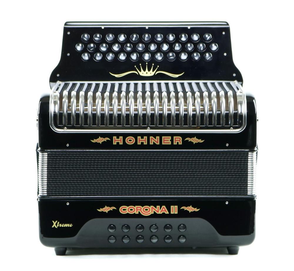 Hohner Hohner Corona II T Xtreme FBbEb Accordion Black