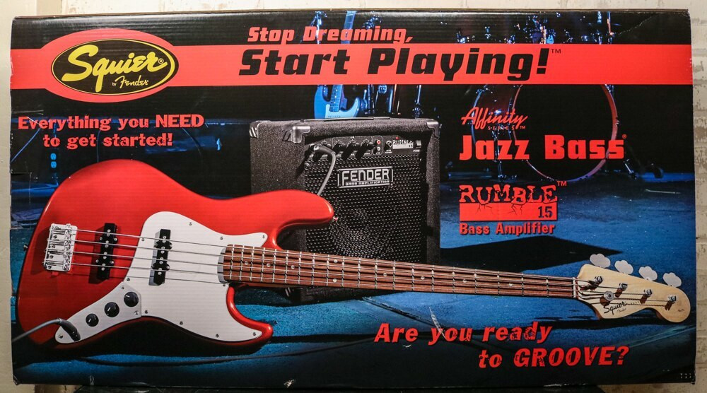 Fender Squier Affinity Jazz Bass Pack w/ Rumble 15 Amp