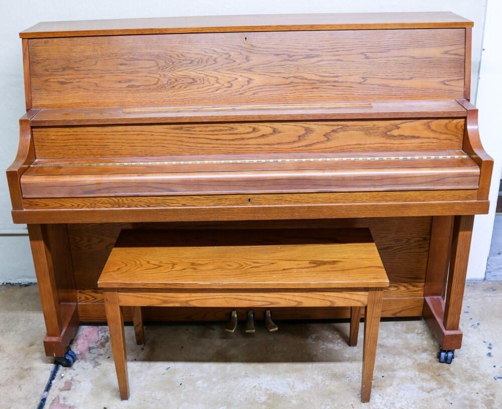 Yamaha Yamaha P22 45 American Walnut Upright Piano w/ Bench