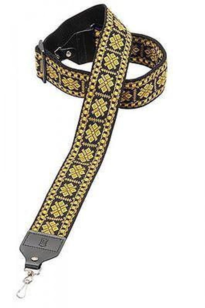 Levys Levys M10HT17 2 Yellow Hootenanny Jaquard Banjo Strap