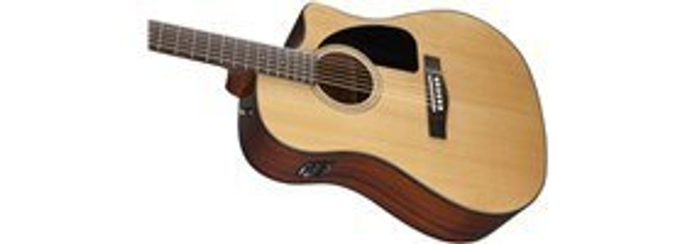 Fender Acoustic Guitars Fender CD60CE Cutaway Dreadnought Acoustic-Electric Guitar Natural