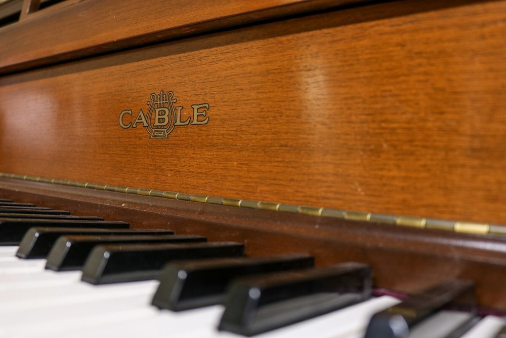 Cable Cable Dark Walnut Console Piano w/ Bench